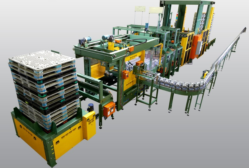Automated Low Level Bulk Palletizer
