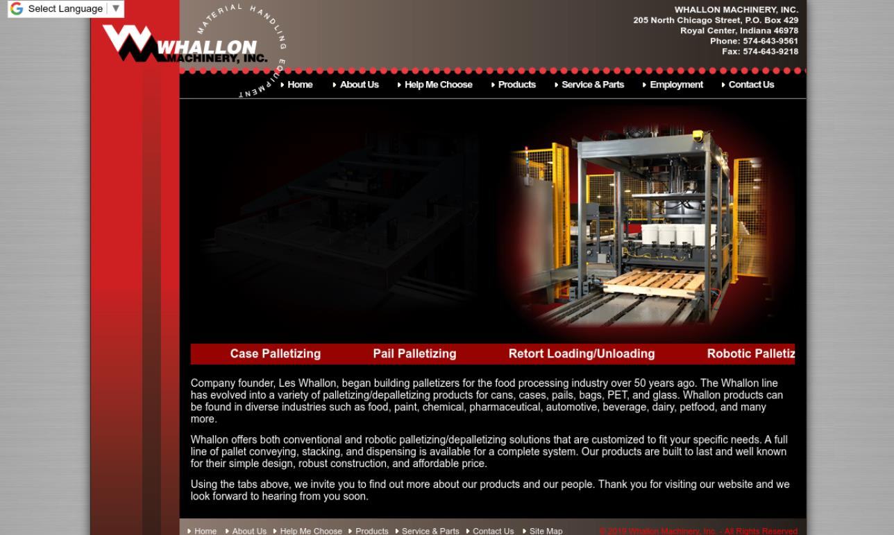 Whallon Machinery, Inc.
